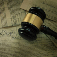 Gavel on America's Constitution